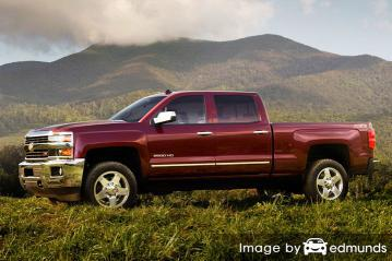 Insurance rates Chevy Silverado 2500HD in Jacksonville