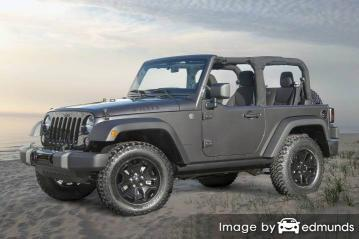 Insurance quote for Jeep Wrangler in Jacksonville
