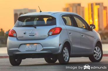 Insurance quote for Mitsubishi Mirage in Jacksonville