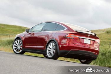 Insurance quote for Tesla Model X in Jacksonville