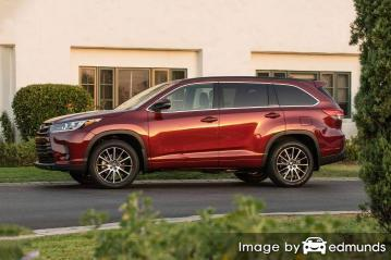 Insurance rates Toyota Highlander in Jacksonville